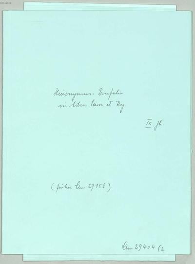 Praefatio in libros Samuel et Malachim - BSB Clm 29404(2