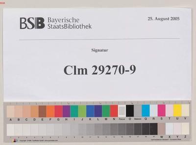 Biblia, Neues Testament, Evangelium - BSB Clm 29270(9