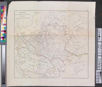 Pologne sous Stanislav Auguste en 1770 :(copie de la carte de Lelewel)