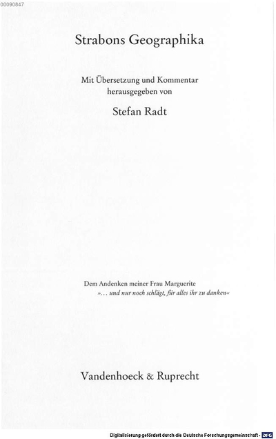 Strabons Geographika. 8, Buch XIV-XVII: Kommentar