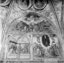 Ausmalung — Neutestamentarische Szenen — Christi Himmelfahrt, Pfingsten, Himmelfahrt Mariens