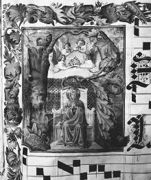 Antiphonar — Initiale R (Regina), darin thronende Madonna, Folio 162recto