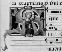 Graduale B — Initiale S mit der Jungfrau Maria im Gebet, Folio 141recto