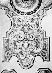 Stuckdekoration des Piano nobile — Stuckdekoration eines Saals