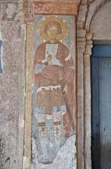 Die Ausmalung des Narthex — Die Ausmalung des Hauptportals — Die Heiligen der Portalpfeiler