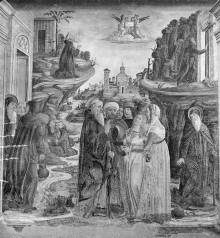 Szenen aus dem Leben des Heiligen Antonius — Der Heilige Antonius Abbas heilt eine Besessene