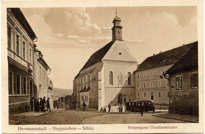 Hermannstadt - Nagyszeben - Sibiiu. Reispergasse Ursulinenkloster