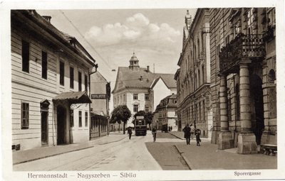 Hermannstadt - Nagyszeben - Sibiiu. Sporergasse