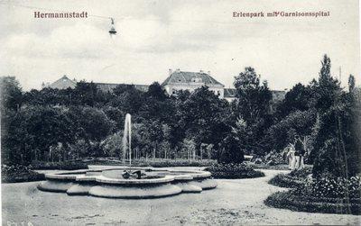 Hermannstadt. Erlenpark mit Garnisonsspital