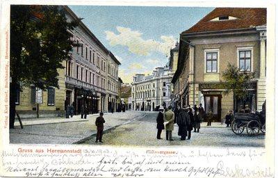 Gruss aus Hermannstadt. Heltauergasse