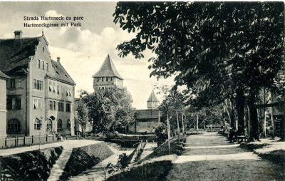 Strada Harteneck cu parc - Harteneckgasse mit Park