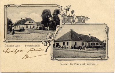 Udvozlet Also Porumbakrol! - Salutari din Porumbak inferiore! [Sibiu - Porumbacu de Jos]