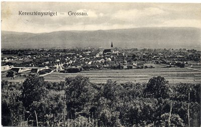 Keresztenysziget - Grossau. [Sibiu - Cristian]
