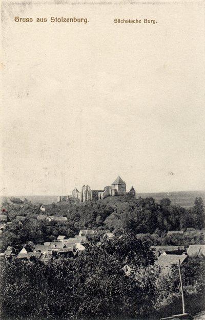Gruss aus Stolzenburg. Sachsische Burg. [Sibiu - Slimnic]