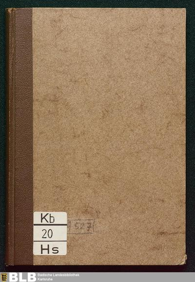 Bibliotheca liturgica manuscripta : nach Handschriften der Grossherzoglich Badischen Hof- u. Landesbibliothek