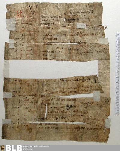 Kalendarium, Fragment - Aug. Fr. 91