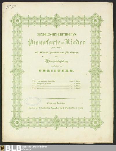 Barcarole (Mendelssohn-Bartholdy's Pianoforte-Lieder (ohne Worte), 4)
