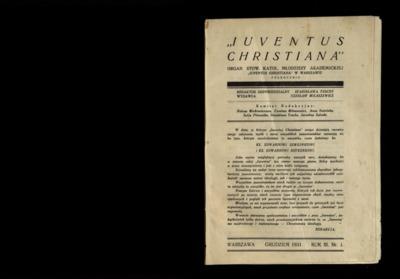 Iuventus Christiana : organ Stowarzyszenia Młodzieży Akademickiej Iuventus Christiana. R. 2 (1931), nr 1