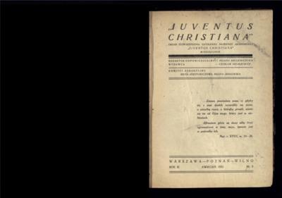 Iuventus Christiana : organ Stowarzyszenia Młodzieży Akademickiej Iuventus Christiana. R. 3 (1932), nr 3