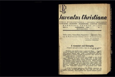 Iuventus Christiana : organ Stowarzyszenia Młodzieży Akademickiej Iuventus Christiana. R. 6 (1934), nr 7