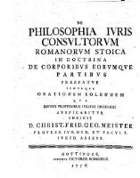De philosophia juris consultorum Romanorum stoica in doctrina de corporibus eorumque partibus.