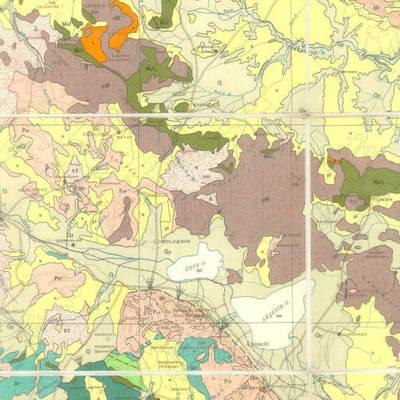 Ankara'nın Batısını ve Komşu İlleri Gösteren Jeoloji Haritası