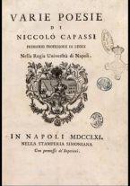 Varie poesie di Niccolo Capassi primario professore di leggi ..