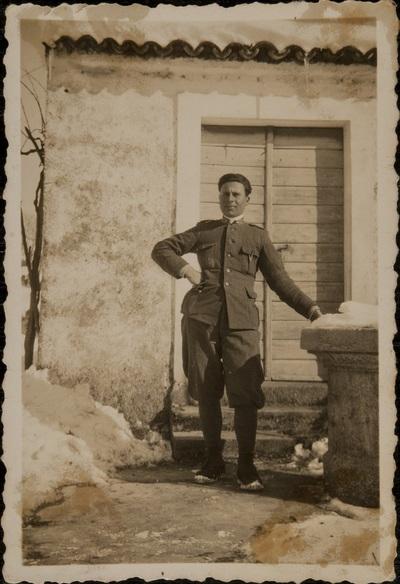 In Fiume during the military service | A Fiume durante il servizio militare