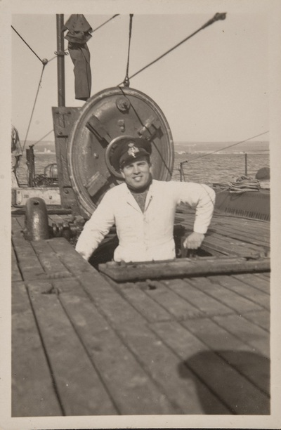 Officer on the Cagni submarine during WWII | Sottoufficiale sul Sommergibile Cagni in periodo di guerra
