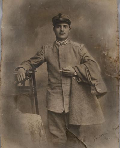 Portrait of Gino Filippi as a soldier | Ritratto di Gino Filippi disperso nella Grande Guerra