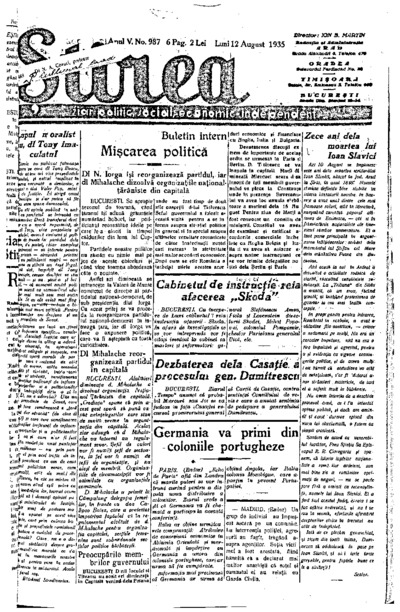 Știrea, Anul V, Nr. 987