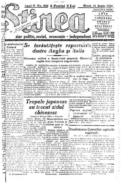 Știrea, Anul V, Nr. 943
