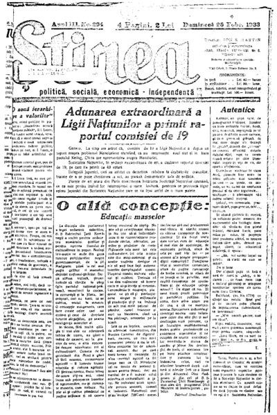 Știrea, Anul III, Nr. 294
