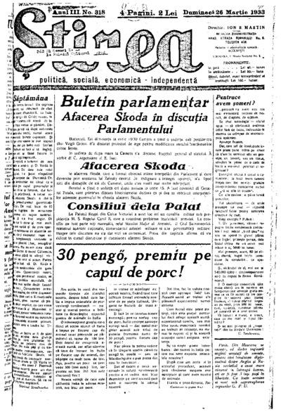 Știrea, Anul III, Nr. 318