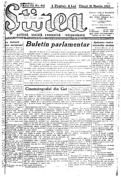 Știrea, Anul III, Nr. 321