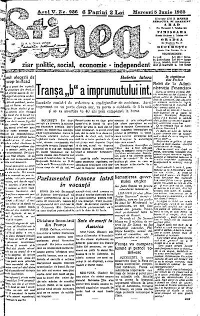Știrea, Anul V, Nr. 936