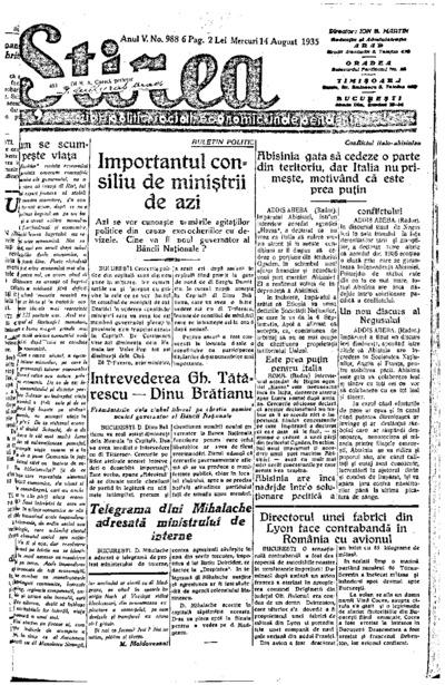 Știrea, Anul V, Nr. 988