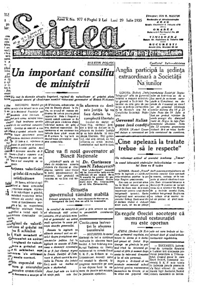 Știrea, Anul V, Nr. 977
