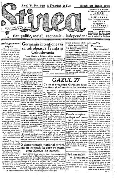 Știrea, Anul V, Nr. 948