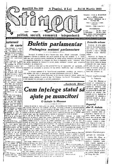 Știrea, Anul III, Nr. 309