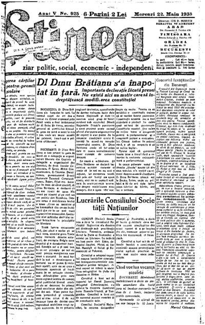 Știrea, Anul V, Nr. 925