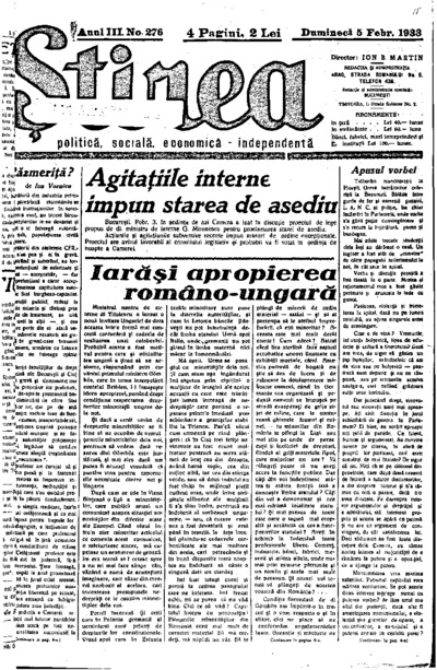 Știrea, Anul III, Nr. 276
