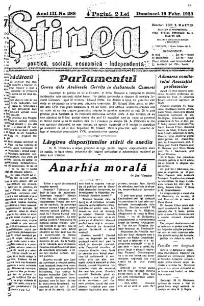 Știrea, Anul III, Nr. 288