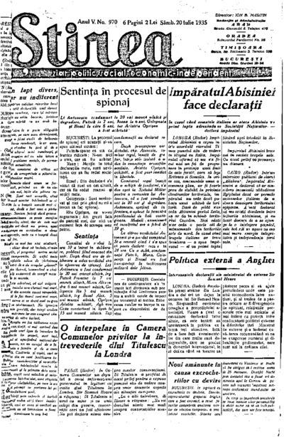 Știrea, Anul V, Nr. 970