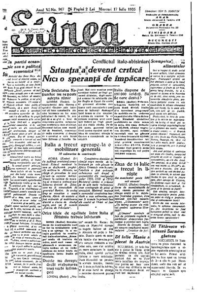 Știrea, Anul V, Nr. 967