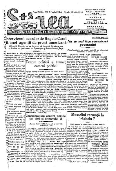 Știrea, Anul V, Nr. 975