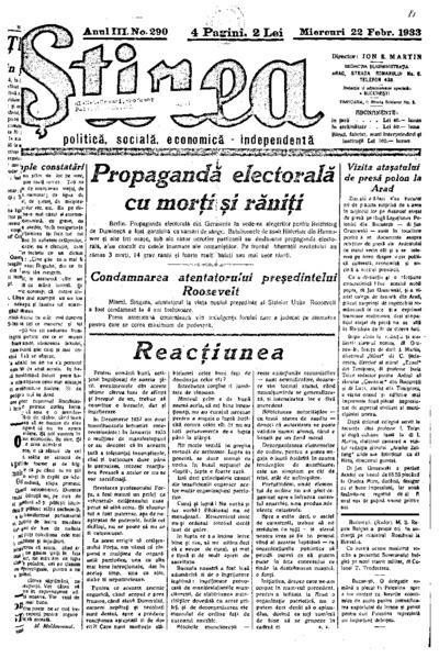Știrea, Anul III, Nr. 290