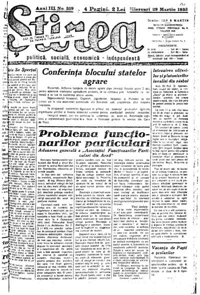 Știrea, Anul III, Nr. 319