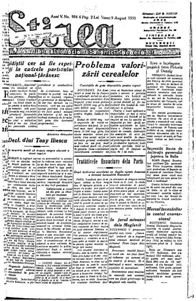 Știrea, Anul V, Nr. 984