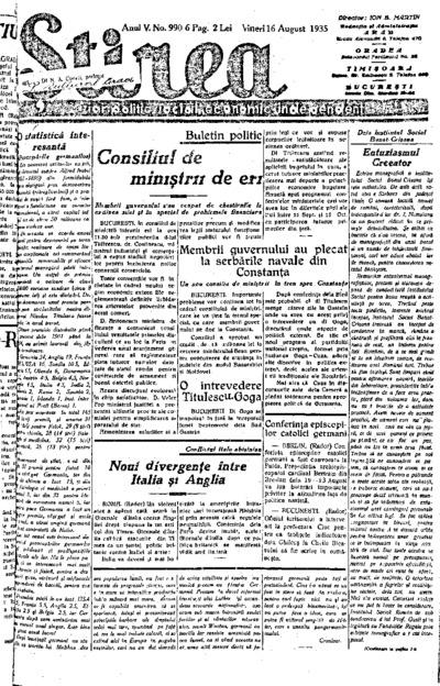 Știrea, Anul V, Nr. 990
